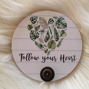 Other - Monstera Heart Design Wall Hook White background